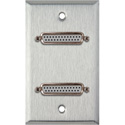 My Custom Shop WPL-1149 1-Gang Stainless Steel Wall Plate w/ Two 25-Pin D-Sub Female to Rear Solder Points