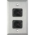 My Custom Shop WPL-1158 1-Gang Stainless Steel Wall Plate w/ 2 RJ11 Feedthru