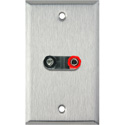 My Custom Shop WPL-1163 1-Gang Stainless Steel Wall Plate w/ 1 Dual Binding Post Connector