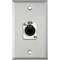 My Custom Shop WPL-1165 1-Gang Stainless Steel Wall Plate w/ 1 Neutrik RJ45 To Rear Krone Terminals