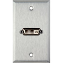 MCS WPL-1185 1-Gang Stainless Steel Wall Plate w/ 1 DVI Feed-Thru