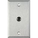 My Custom Shop WPL-1196 1-Gang Stainless Steel Wall Plate w/ 1 mini 3.5 stereo feedthrough