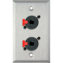 My Custom Shop WPL-1201 1-Gang Stainless Steel Wall Plate w/ 2 1/4-Inch TRS Feed-Thru