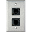 My Custom Shop WPL-1210 1-Gang Stainless Steel Wall Plate w/ 2 Toslink connectors