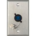 My Custom Shop WPL-1216 1-Gang Stainless Steel Wall Plate w/1 Duplex LC Singlemode Fiber Optic Connector