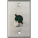 My Custom Shop WPL-1217 1-Gang Stainless Steel Wall Plate w/ 1 Duplex APC LC Singlemode Fiber Optic