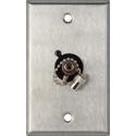My Custom Shop WPL-1219 1-Gang Stainless Steel Wall Plate w/ 1 ST Singlemode Fiber Optic Connector