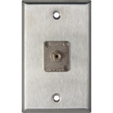 My Custom Shop WPL-1220 1-Gang Stainless Steel Wall Plate w/ 1 ST Multimode Fiber Optic Connector