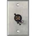My Custom Shop WPL-1223 1-Gang Stainless Steel Wall Plate w/ 1 SC Multimdoe Fiber Optic Connector