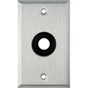 My Custom Shop WPL-12GROM 1-Gang Stainless Steel Wall Plate w/ One 1/2 inch Grommet