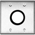 My Custom Shop WPL-2158GROM 2-Gang Stainless Steel Wall Plate w/ One 1-5/8 inch Grommet