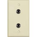 My Custom Shop WPLI-1198 1-Gang Ivory Lexan Wall Plate w/ 2 mini 3.5 stereo feedthrough