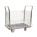 Wesco 270456 Wire Caged Platform Production Truck/Cart - 23 Inch x 35 Inch