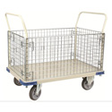 Wesco 270461 Wire Caged Platform Production Truck/Cart - 30 Inch x 48 Inch