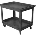 Wesco 270483 500 Lb. Capacity 24 x 36 Plastic Production Cart