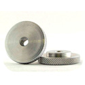WindTech M-6 Large Knurled Edge 1/4in-20 Lock Nut Aluminum