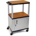 H. Wilson WT2642CE-N Utility AV Cart (Nickel Legs and Cabinet)