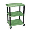 H Wilson WT34S - 34-Inch High Green Tuffy Utility Cart - 3 Shelves