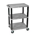 H Wilson WT34S - 34-Inch High Gray Tuffy Utility Cart - 3 Shelves