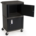 H. Wilson WT50B Industrial Cart with Secure Storage (Black)