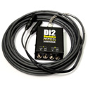 Whirlwind DI2-025-BK Snake - Box to Fan 2-ch DI to XLR Fanout W1509 Snakeskin - Black - 25 Foot