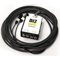 Whirlwind DI2-025-WH Snake - Box to Fan 2-ch DI to XLR Fanout W1509 Snakeskin - White - 25 Foot