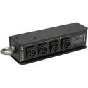 Whirlwind SBNL14442 Splitter - Speakon Stagebox 1 NL4/4 NL4 Wired 2-Pole in Pairs
