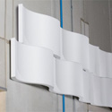 Photo of  Sonex WWR-2  WhisperWave Acoustic Foam Ribbon Wall Panels - 18in x 48in - White - Box of 4 Panels