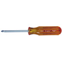 Xcelite X101 No.1 Phillips x 3 Inch Round Blade Screwdriver with Amber Handle