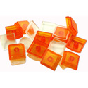 X-keys XK-A-004OR-R Orange Keycap - 10 Keycap Bases and 10 Clear Cover Lenses