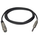 TecNec Premium Quality XLRF-1/4in Male Audio Cable 3Ft