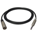 Connectronics Premium Quality XLR Male-1/4 Stereo Male Audio Cable 3ft