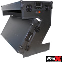 ProX XS-ZTABLEBL Portable Z-Style DJ Table Flight Case with Handles & Wheels (Black on Black)