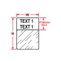 XPERT Selflaminating  White 1.5in x 1in x  .5in - 250 Per Cartridge