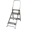 Xtend & Climb WT4 4 Step Folding Safety Step Stool with Handrail