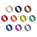 Neutrik XXR-0 Colored Ring for X-Series Cable Ends - Black - 10 Pack