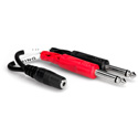 Hosa YMP-434/Y-MFS-2SP Stereo Mini 3.5mm Female to Dual Mono 1/4 Inch Male Y-Cable 6 Inch