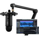 Blue Yeticaster Studio Professional Desktop Studio Bundle with Professional USB Mic