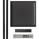 Yamaha UC ADECIA Ceiling Bundle RM Ceiling Mic - RM Audio Processor - Network Switch & 2 Speakers - Black - Dante Ready