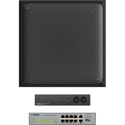 Yamaha UC ADECIA Ceiling Bundle RM Ceiling Mic - Black - RM Audio Processor & SWR-2311P-10G Network Switch - Dante Ready