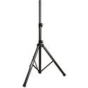 Yorkville SKS-09B Economy Tripod Adjustable Stand - 1 3/8 Inch Diameter - Steel Legs - Plastic Collar