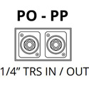 Jensen PO-PP Single Channel Ground Isolator for High Output Professional Line Level 1/4 Inch TRS Signal