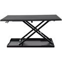 Luxor CVTR32 Pneumatic Standing Desk Converter in Black - 20 lb. Weight Capacity